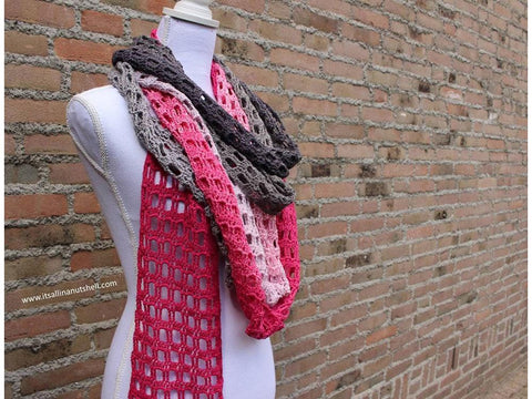 Endless Love Skinny Scarf by It's All in a Nutshell in Scheepjes Whirl