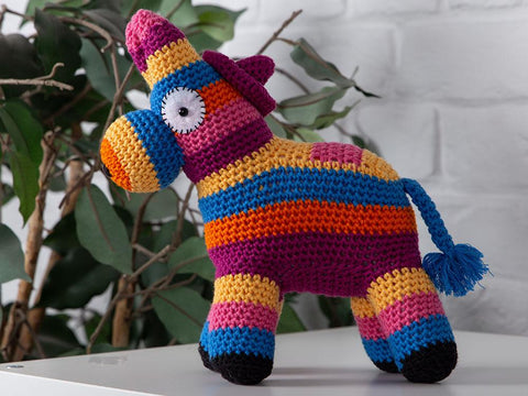 Frank the Festival Donkey by Zoë Potrac in King Cole Bamboo Cotton DK