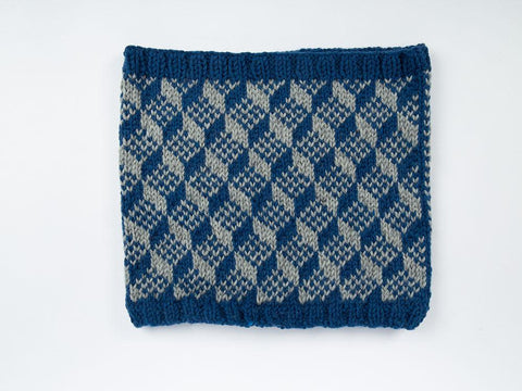 Escher Cowl by Graeme Knowles-Miller in Rowan Pure Wool Worsted