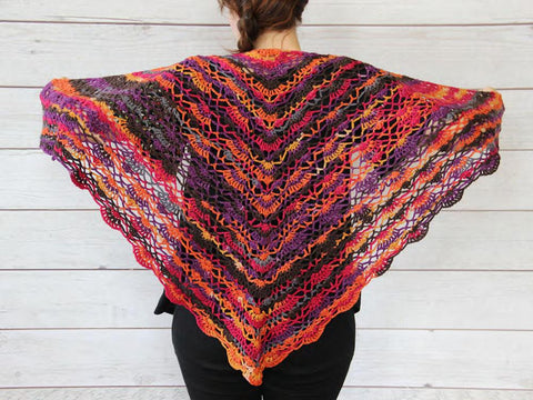 Plume Shawl in Stylecraft Head Over Heels