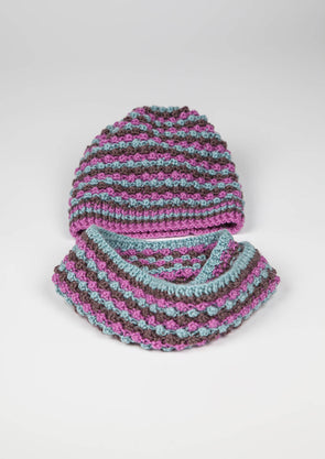 Erika Knight Bobbly Hat and Snood - Digital Version