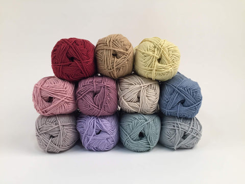 King Cole Bamboo Cotton DK Faded Rainbow Colour Pack