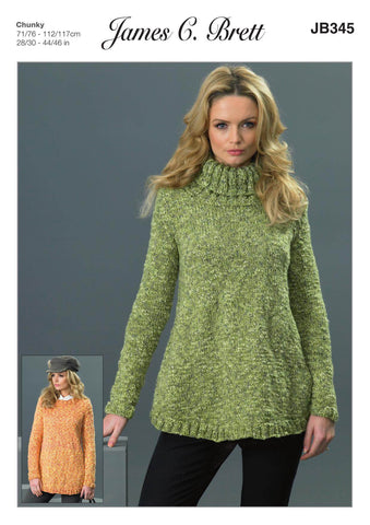 Sweaters in James C. Brett Pulse Chunky (JB345)