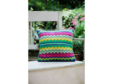 Crochet Cushion by Jane Crowfoot in Stylecraft Special DK