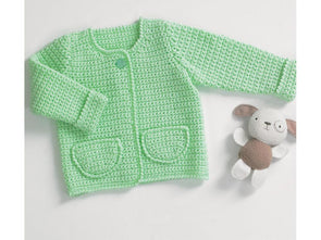 Baby Coat with Pockets by Jenny Watson in Deramores Studio Baby DK (5081)
