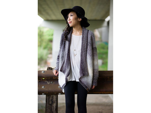 Cascade Cardigan by All About Ami in Lion Brand Shawl In A Ball