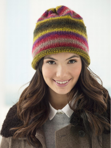 Lion Brand® Landscapes® Hip Slouch Hat (Knit) (L40743C)