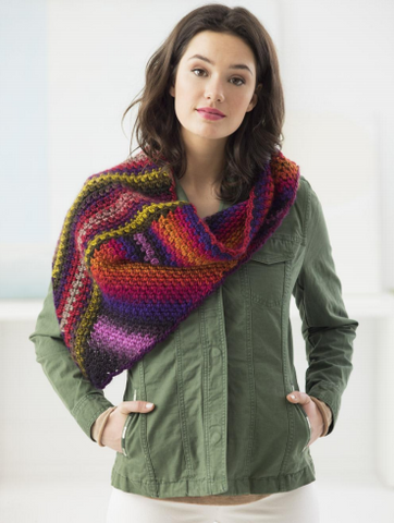 Lion Brand® Landscapes® Two Triangles Shawl (Crochet) (L70022)