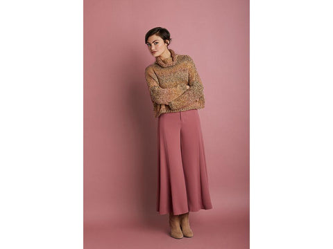 Boxy Cropped Pullover in Lion Brand Homespun