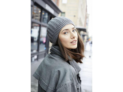 Seed Rib Hat in Lion Brand Touch of Merino