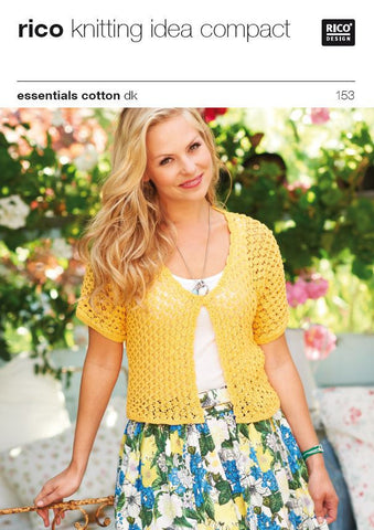 Ladies' Cardigans in Essentials Cotton DK - 153