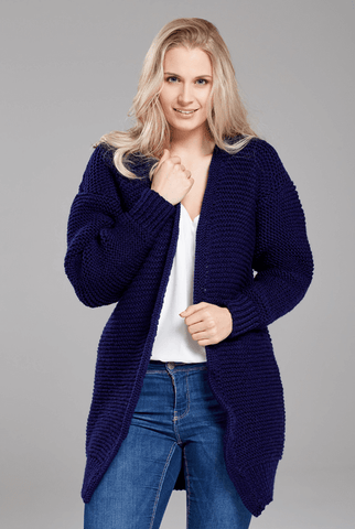 Longline Cardigan Kit - Deramores Studio DK - Yarn and Digital Pattern