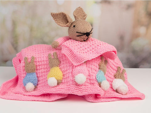 Newborn Baby Girl Set (Bunny) by Nicola Valiji in Deramores Studio Baby Soft DK Knitting Kit and Pattern
