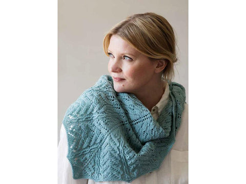 Knitted Lace Shawl in Novita Baby Merino