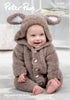Babies Bunny Onesie in Peter Pan Precious Chunky (1295)- Digital Version