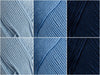 Patons 100% Cotton DK Classic Denims Colour Pack