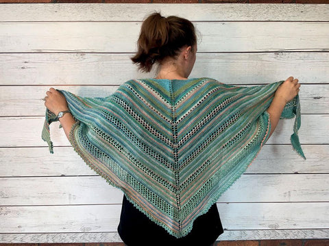Triangular Pool Shawl in Stylecraft Head Over Heels All Stars