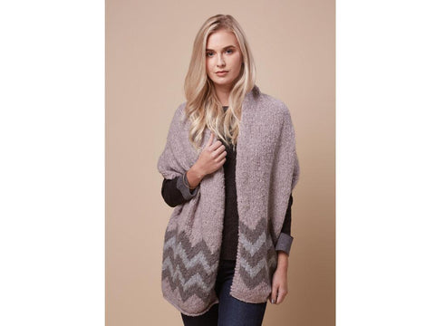 Zigzag Wrap in Rowan Selects Cosy Merino