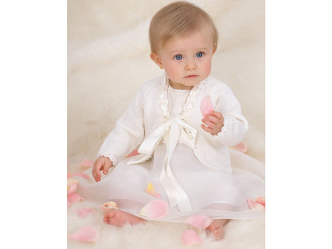 Babies Sunday Best Cardigan in Sublime Cashmere Merino Silk Baby DK Kit