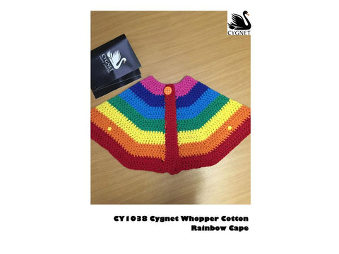 Rainbow Cape in Cygnet Yarns Whopper Cotton