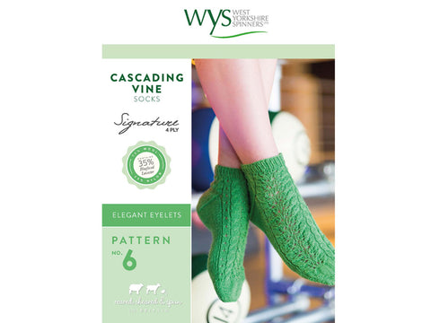 Cascading Vine Socks in West Yorkshire Spinners Signature 4 Ply - Pattern No. 6