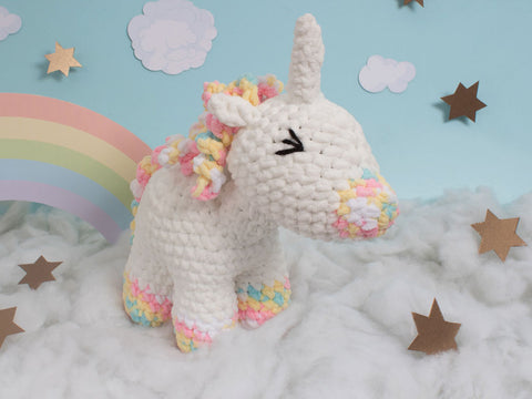 Knitty Critter Crochet Kit - Sophia the Unicorn
