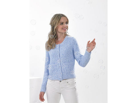Ladies Cardigan in James C. Brett Bubbalicious DK (JB536)