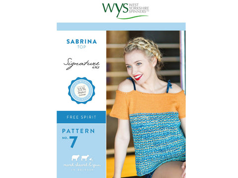 Sabrina Top in West Yorkshire Spinners Signature 4 Ply - Pattern No. 7