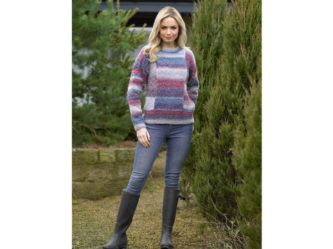 Ladies Sweater in James C. Brett Marble Chunky (JB497)
