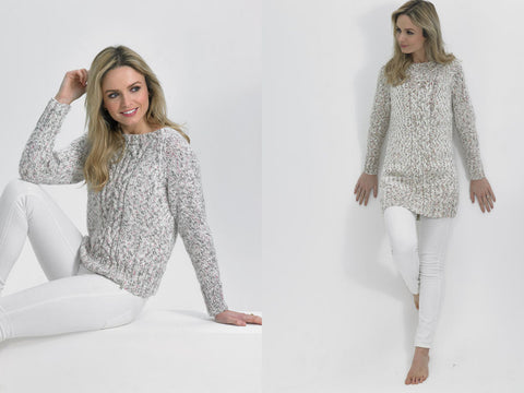 Ladies Sweaters in James C. Brett Tranquil Chunky (JB490)