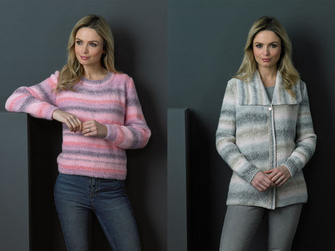 Ladies Jacket & Sweater in James C. Brett Marble DK (JB501)