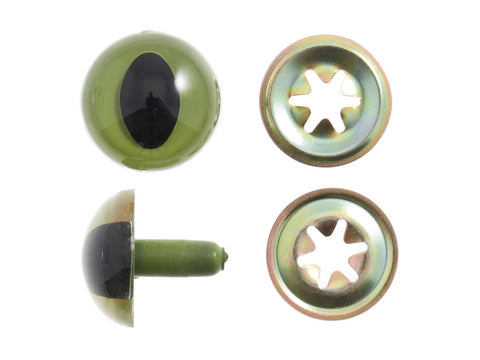 The Craft Factory 12mm Green Cat Safety Eyes