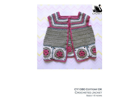 Crocheted Jacket in Cygnet Yarns Cottony DK - Yarn and Pattern