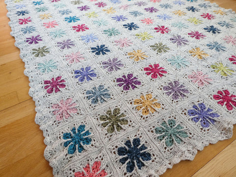 Field of Flowers Blanket Colour Pack by Catherine Bligh in Stylecraft Batik