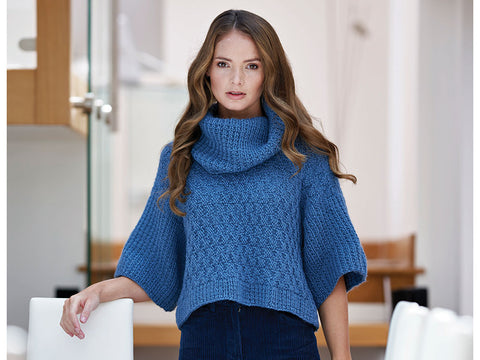 Evania Basket Weave Jumper by Chloe Birch in West Yorkshire Spinners Re:Treat