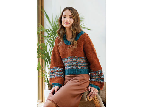 Galina Slip Stitch Sweater by Chloe Birch in West Yorkshire Spinners Re:Treat