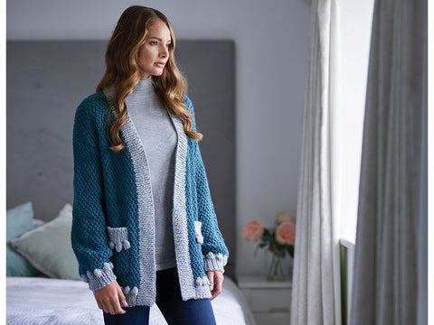 Janoah Bobble Cardigan by Chloe Birch in West Yorkshire Spinners Re:Treat