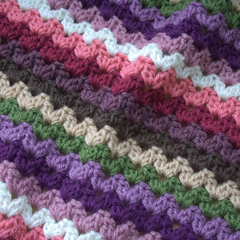 Ric Rac Blanket - Deramores Studio DK - Meadow Yarn Pack