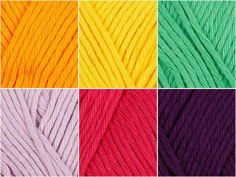 Rico Design Creative Cotton Aran Tropical Flavour Colour Pack