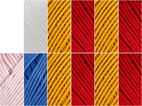 Flag of Spain Colour Pack in Rowan Cotton Glace
