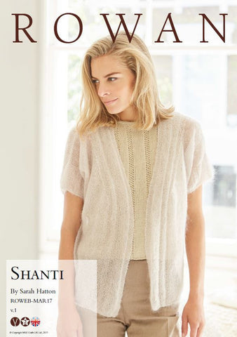 Shanti by Sarah Hatton Kit in Rowan Kidsilk Haze - Yarn & Pattern