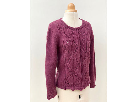 Ruby Cardigan by Emma Vining in West Yorkshire Spinners Illustrious DK