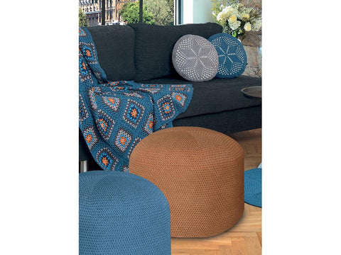 Pouffe Cover in Schachenmayr Catania