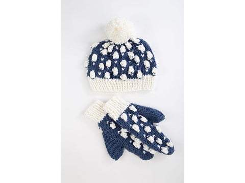Sheep in the Snow Bobble Hat & Scarf by Ruth Dorrington in Deramores Studio Chunky