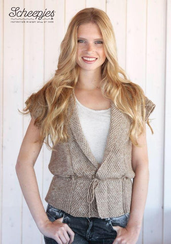 Sleeveless Cardigan Kit in Scheepjes Stone Wash