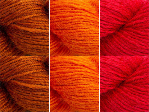 West Yorkshire Spinners Wensleydale Gems Spessartite Garnet Colour Pack