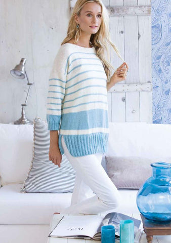 Striped Jumper in Deramores Studio Chunky by Melissa McGill