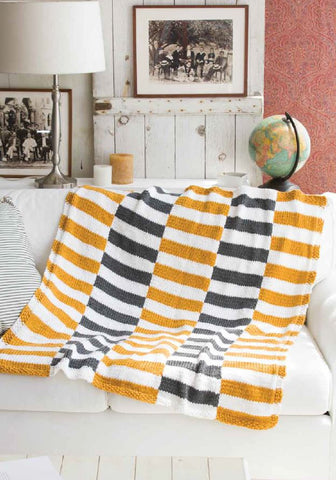Striped Afghan in Deramores Studio Chunky by Audrey Drysdale