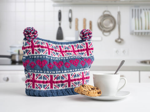 Union Jack Tea Cosy by Julia Marsh in Deramores Studio DK - Kit