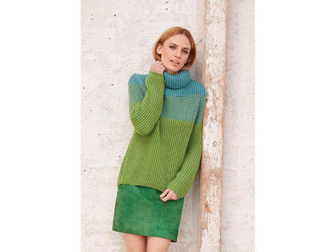 Turtleneck Sweater in Patons Merino Extrafine DK